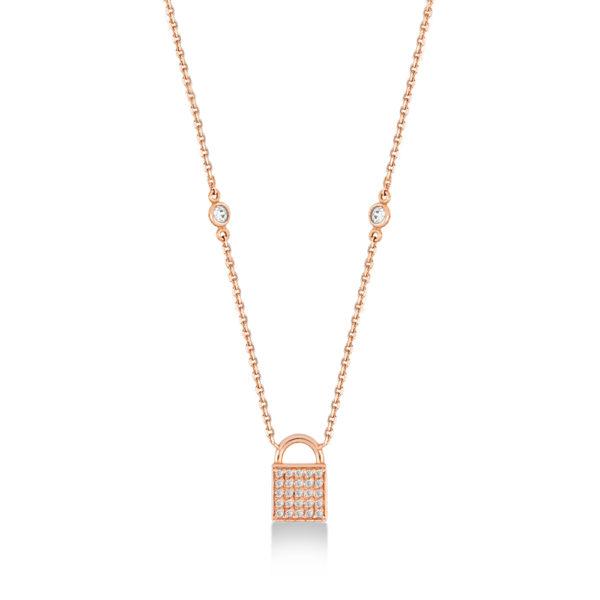 Secret collier en or rose 18 carats
