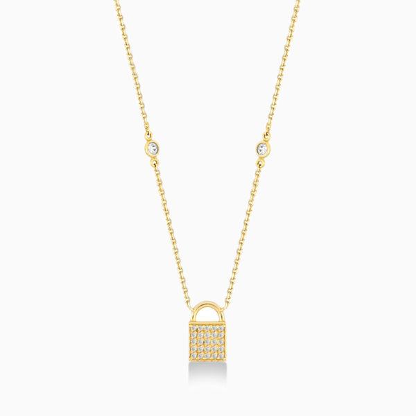 Secret collier en or jaune 18 carats