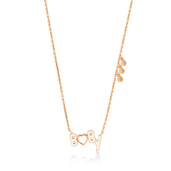 Baby collier en or rose 18 carats
