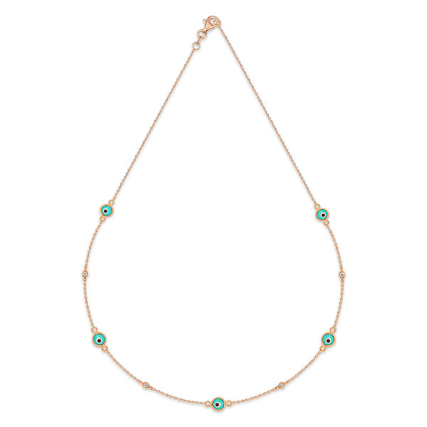 Eye collier en or rose 18 carats
