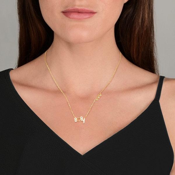 Baby collier en or jaune 18 carats