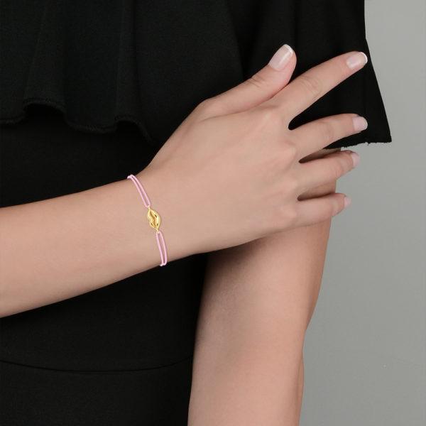 Kiss bracelet en or jaune18 carats
